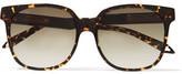 Victoria Beckham Square-Frame Tortoiseshell Acetate Sunglasses