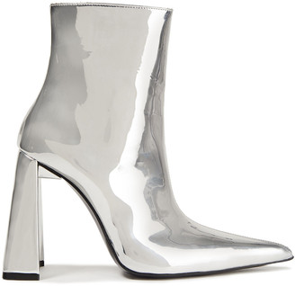 Area Mirrored-leather Ankle Boots