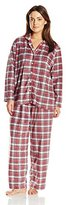 Karen Neuburger Women's Plus-Size Minky Fleece Pajama Set