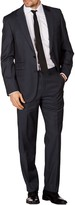 Levinas Charcoal Sharkskin Two Button Notch Lapel Wool Slim Fit Suit