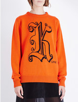 Christopher Kane Kane-intarsia wool jumper