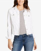 William Rast White Wash Textured Star Denim Jacket