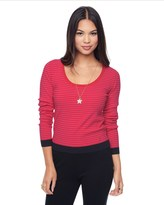 Juicy Couture Cropped Stripe Scoop Neck Top