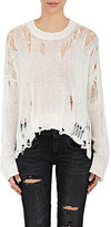 R 13 Women's Distressed Cotton-Blend Sweater