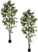 Rogue Artificial Ficus Tree (Set of 2), 100x213cm