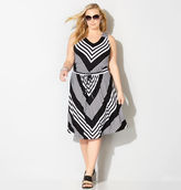 Avenue Miter Stripe Drawstring Dress
