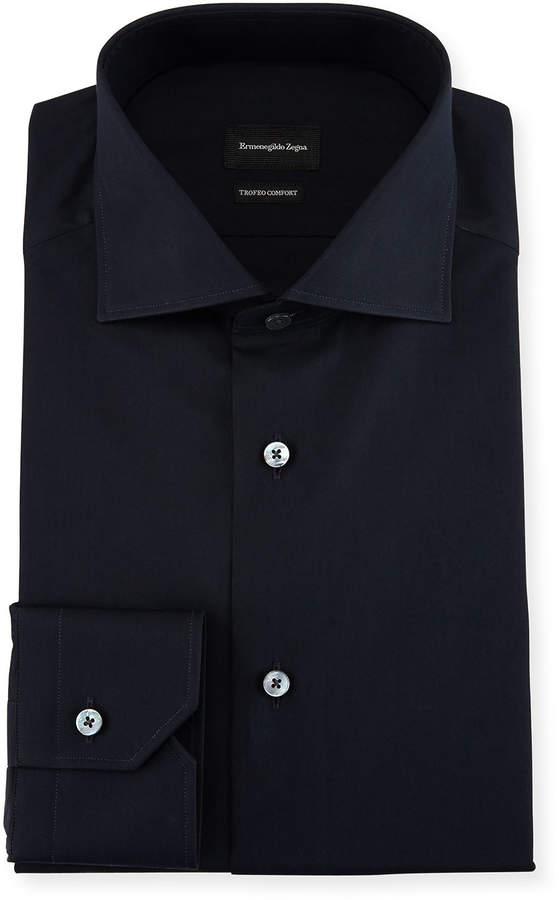 Ermenegildo Zegna Trofeo Comfort Dress Shirt, Navy