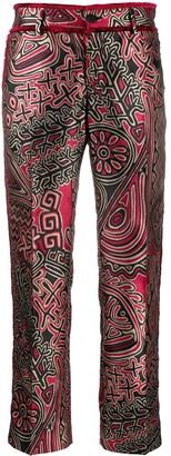 F.R.S For Restless Sleepers Abstract Print Straight Leg Trousers