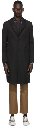 Burberry Black Wool and Cashmere Hawkhurst Coat