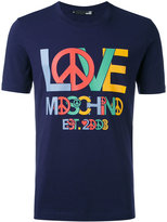 Love Moschino logo print T-shirt - men - Cotton/Spandex/Elastane - XL
