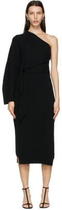 Nanushka Black One-Shoulder Cedro Dress