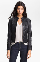 LaMarque Perforated Leather Moto Jacket