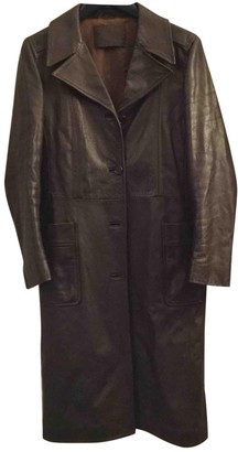 Prada Brown Leather Coat for Women