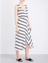 Vix Cutout-detail linen-blend dress