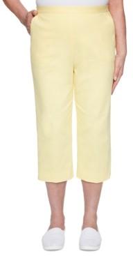 Alfred Dunner Petite Spring Lake Capri Pull-On Pants