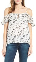 Lucky Brand Women's Print Cold Shoulder Blouse