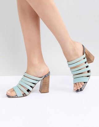 ASOS Aster Leather Heeled Sandals