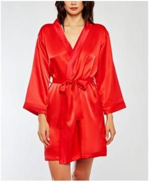 iCollection Renee Satin Ultra Soft Lounge Robe, Wrap