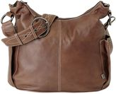 OiOi Leather Hobo Diaper Bag in Chocolate