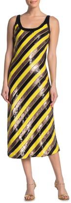 Diane von Furstenberg Luisa Stripe Print Midi Dress