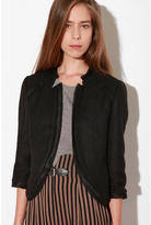 Silence & Noise Raw-Edge Notched Blazer