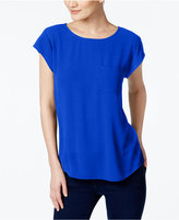 Vince Camuto Mixed-Media T-Shirt
