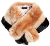 Ted Baker Stripe Faux Fur Scarf