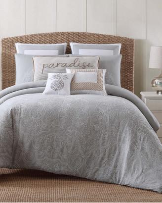 Oceanfront Resort Tropical Plantation Embroidered Comforter Set
