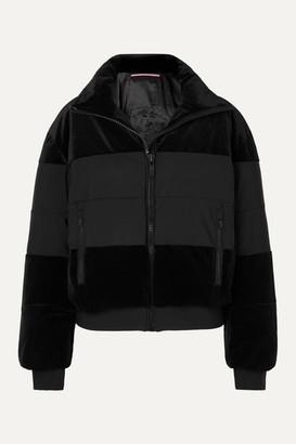 Fusalp Cooler Quilted Paneled Velvet Ski Jacket - Black