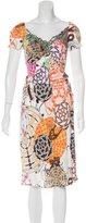 Blumarine Abstract Print Midi Dress