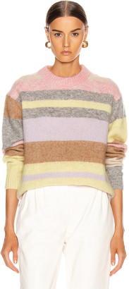 Acne Studios Kalbah Mohair Sweater in Lilac & Yellow Multi | FWRD