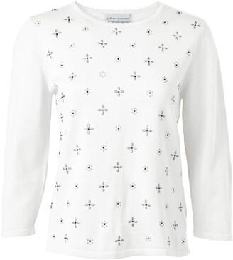 Alfred Dunner Women's Petite Novelty Design Embellished Sweater