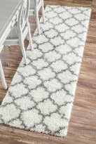 nuLoom Moroccan Trellis Soft And Plush Shag Runner Area Rugs