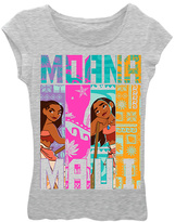 Freeze Heather Gray Moana 'Maui' Tri-Stripe Short-Sleeve Tee