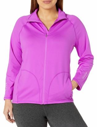 Just My Size Women's Plus-Size Active Full-Zip Mock Neck Jacket