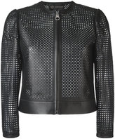Versace laser cut jacket - women - Lamb Skin - 40