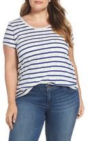 Lucky Brand Plus Size Women's Stripe Jacquard Tee