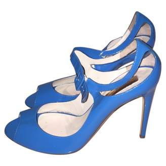 Rupert Sanderson Blue Patent leather Sandals