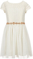 My Michelle Big Girls 7-16 Lace-Bodice Beaded Tulle Dress