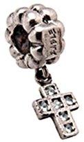 Zable Sterling Silver Dangle Cross Bead