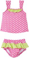 I Play 2 Piece Ruffle Tankini Swimsuit Set (Baby/Toddler) - Pink Daisy - 9-12 Months
