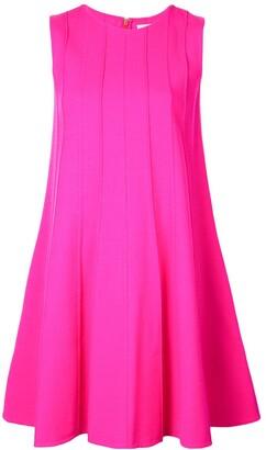 Oscar de la Renta rib-detail swing dress