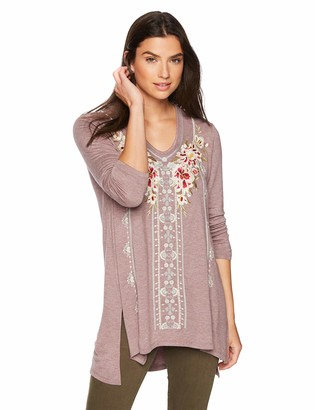 Trust Women's V-Neck Embroidered Tunic