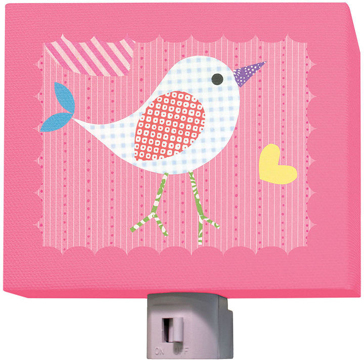 Oopsy Daisy Fine Art For Kids Night Light, Mod Chick on Hot Pink