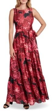 Tahari ASL Printed Jersey Gown