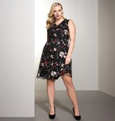 Avenue Embroidered Floral Fit and Flare Dress