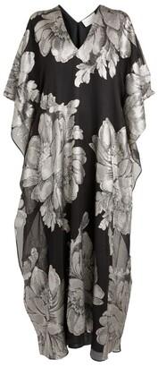 MARIE FRANCE VAN DAMME Metallic Flower Beach Dress