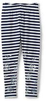 Classic Girls Plus Shimmer Ankle Length Knit Leggings-Foil Snowflake