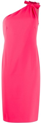 Boutique Moschino One Shoulder Fitted Dress