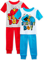 Sesame Street 4-Pc. Elmo & Cookie Monster Cotton Pajama Set, Toddler Boys (2T-5T)